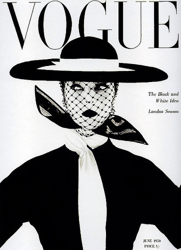 The cover of Vogue, June 1950.