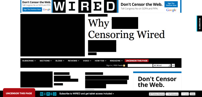 As Wikipedia goes dark to protest SOPA, media offer support
