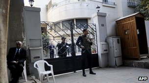 Egyptian police raided the offices of NGO offices in Cairo in December. (AFP)