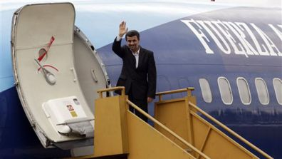 Iran President Mahmoud Ahmadinejad in Ecuador this month. (AP)