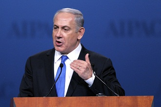 Israeli Prime Minister Benjamin Netanyahu speaks to AIPAC March 5, 2012. (Cliff Owen/AP)