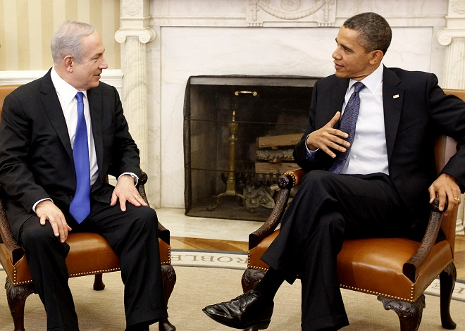 Pres. Obama met with Israel's Prime Minister Netanyahu at the White House Monday. (Pablo Martinez Monsivais/AP)