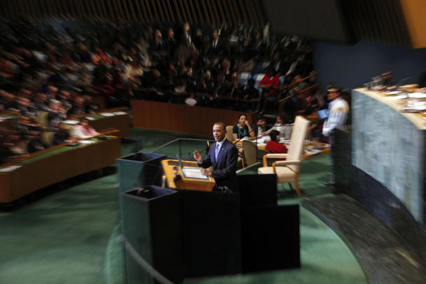 President Barack Obama addressed the UN on Sept. 21, 2011. (Jason DeCrow/AP)
