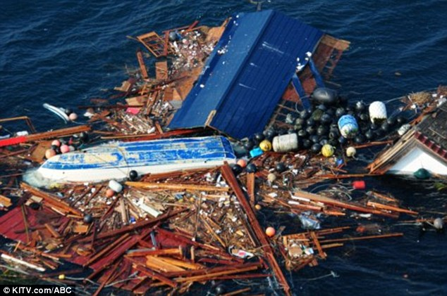 Debris from Japan's tsunami approaching Hawaii. (KITV/ABC)