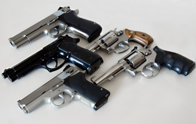 An array of guns (iStockphoto)