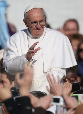 Pope Francis at his inauguration Mass. (Getty Images News)