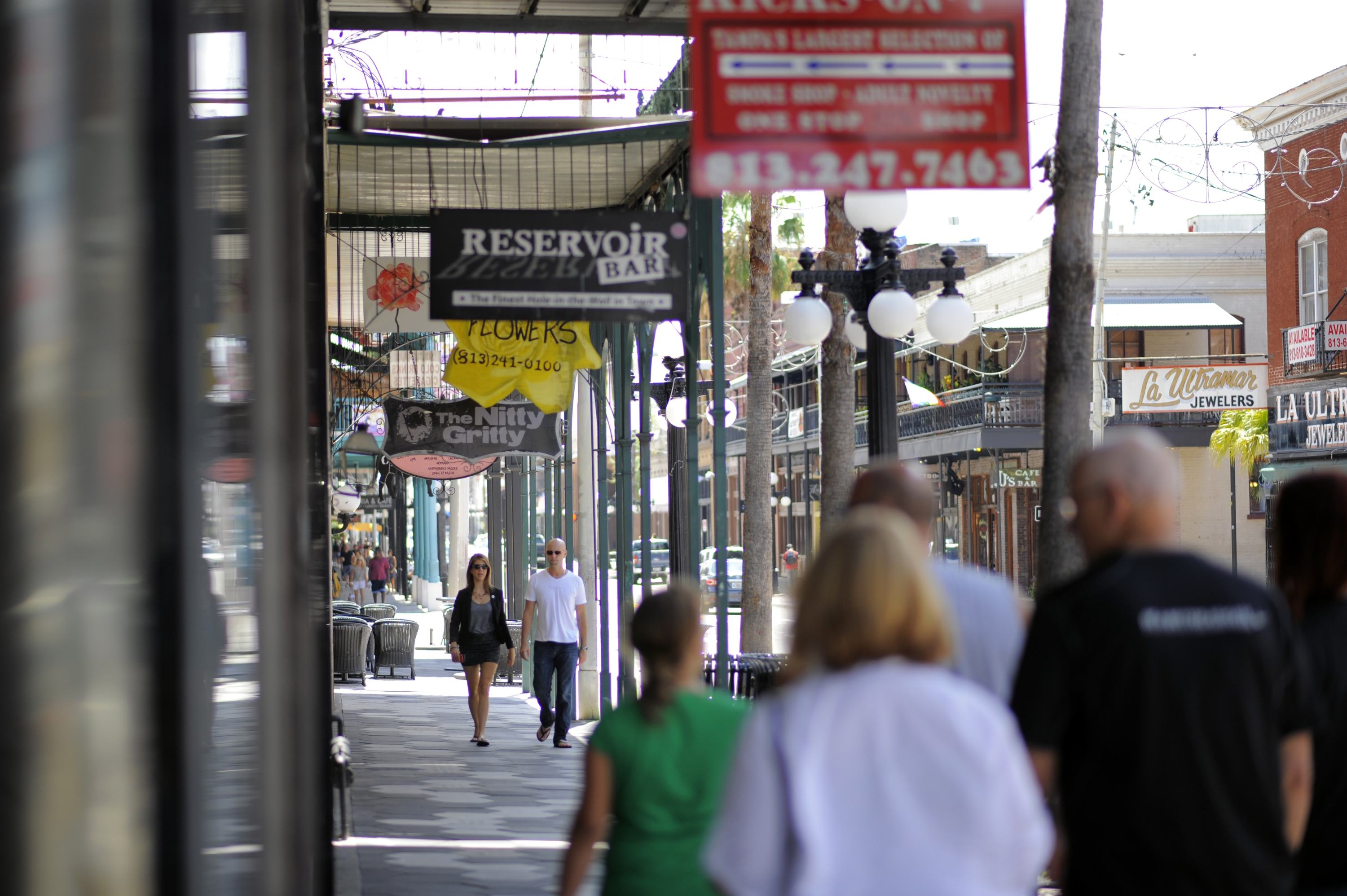 A view down Seventh Avenue in the Ybor City neighborhood of Tampa, Fla.  (Brian Blanco/Reuters)