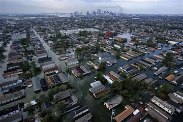 Flooding in New Orleans after Hurricane Katrina (AP/Vincent Laforet)