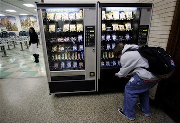 A Chicago high school student buys a snack. (AP)