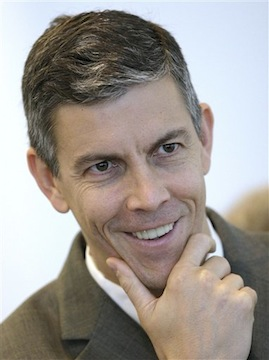 Duncan says an emphasis on testing doesn't encourage cheating (AP/Charles Arbogast)