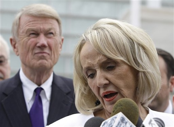 Gov. Jan Brewer shortly before SB1070 was enjoined in 2010. (Ross D. Franklin/AP)