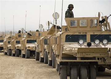 Afghan National Army tanks: U.S. Navy