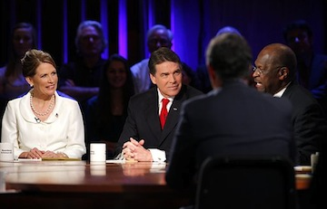Bachmann, Perry and Cain (AP)