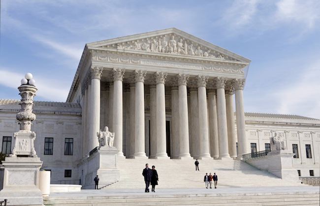 The U.S. Supreme Court building, where oral arguments begin Monday. (J. Scott Applewhite, AP)