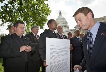 Family Research Council President Tony Perkins at a May demonstration in favor of DOMA. (J. Scott Applewhite/AP)