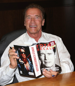 Arnold Schwarzenegger attends a book signing for his new autobiography. (Frederick M. Brown/Getty)