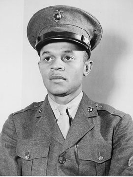 Howard_P._Perry,_the_first_African-American_US_Marine_Corps_recruit,_1942