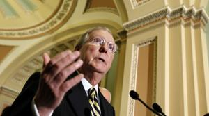Senate Minority Leader Mitch McConnell: AP Photo/J. Scott Applewhite