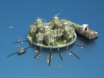 Seasteading Institute city design (Anthony Ling)