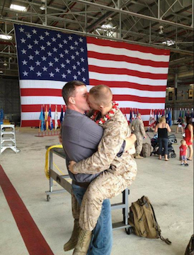 Marine Brandon Morgan's homecoming.
