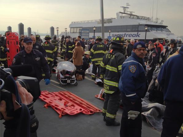 First responders at the scene of the ferry crash in New York City. (FDNY Incidents)