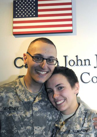 Sean Whitney and Caitlin Murray tied the knot on Jan. 3 at the Albany International Airport. (Michael P. Farrell/Times Union)