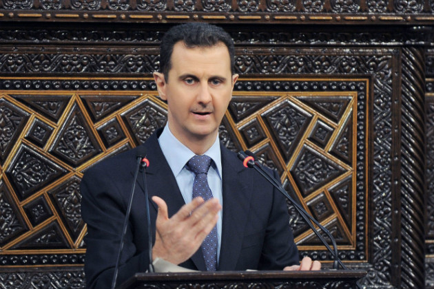 Assad addresses parliament on June 3, 2012. (AP)