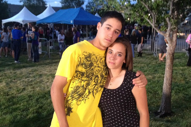 Siblings Brandon and Taryn DiRito at Sunday's prayer vigil. (Liz Goodwin/Yahoo News)