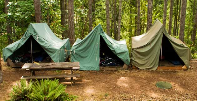 File photo of tents at a Boy Scouts camp (Thinkstock)