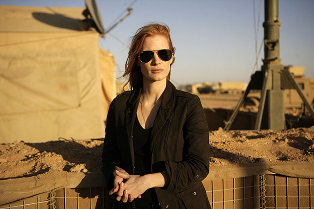 "Jessica Chastain stars as Maya in ""Zero Dark Thirty"" (Jonathan Olley/Columbia Pictures)"