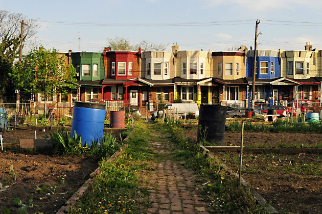 A community garden in Philadelphia (Wikimedia Commons)