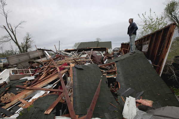 GaryStorm damage in Thurman, Iowa, April 15, 2012. (AP/Nati Harnik)