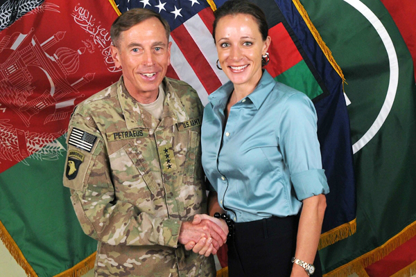 Gen. David Petraeus and Paula Broadwell before the scandal.(Getty Images)