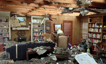The tornado wrecked the family's home of 41 years. (Jason Sickles/Yahoo News)