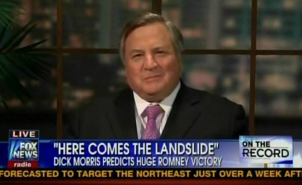 "Dick Morris predicted a ""landslide"" victory for Mitt Romney. (Fox News)"