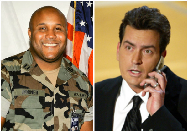 Dorner, Sheen (LAPD/Getty Images)