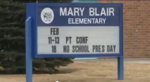 Mary Blair Elementary (screengrab from Fox-31 Denver)