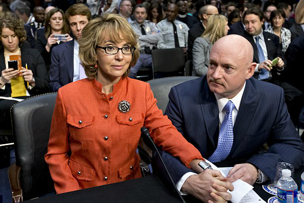 Giffords and Kelly appear at a hearing on Capitol Hill, Jan. 30, 2013. (AP/File)