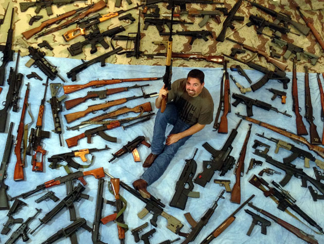 Chris, who asked that his last name not be used, hasn't fired a third of his collection. (@Gun_Collector)