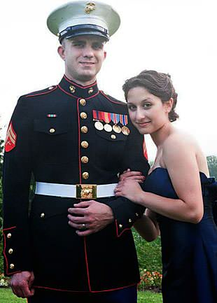 Sgt. John Harrison and wife Amanda. (Photo: Alisha Silver)