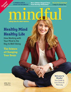 The premiere issue of Mindful magazine (via Mindful)