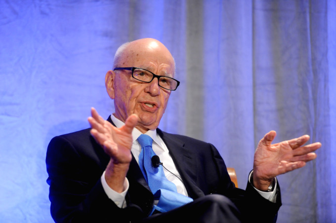 Rupert Murdoch delivers a keynote address on education reform in San Francisco on Oct. 14, 2011. (AP)