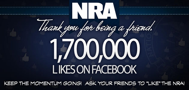 NRA thanks its Facebook fans (NRA/Twitter)