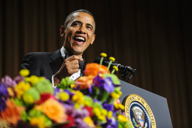 President Obama addresses the White House Correspondents' Association dinner, April 27, 2013. (Getty Images)