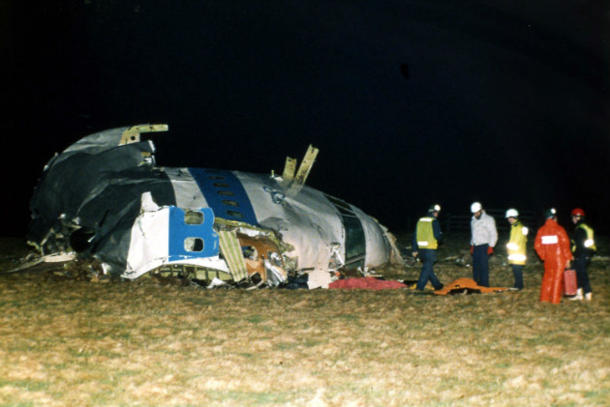 Remains of Pan Am Flight 103 in Lockerbie. (AP/File)
