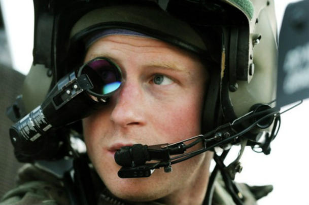 Prince Harry at Camp Bastion in southern Afghanistan in 2012 (John Stillwell/AP)