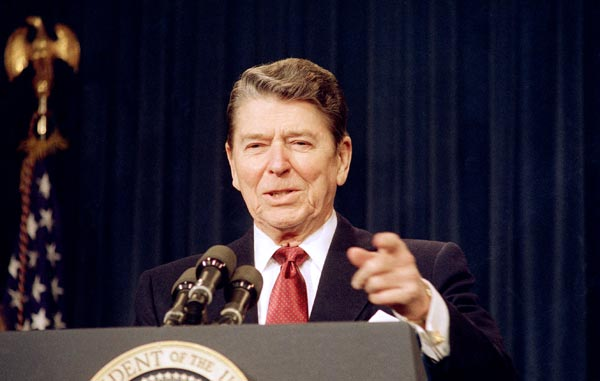 President Ronald Reagan in 1988 (Barry Thumma/AP)