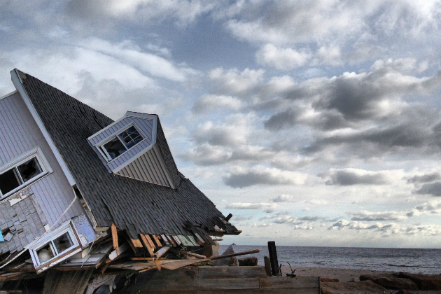A house leveled during Superstorm Sandy in Fairfield, Conn. (Dylan Stableford/Yahoo News)