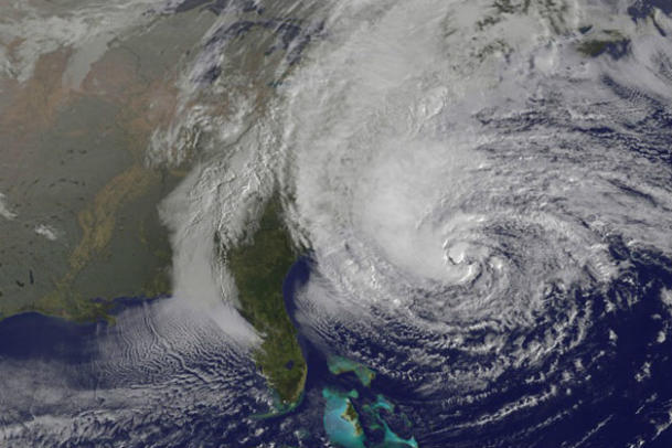 Sandy as seen from space (NASA)