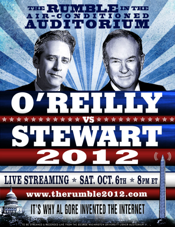 Jon Stewart to debate Bill O'Reilly in online pay-per-view event